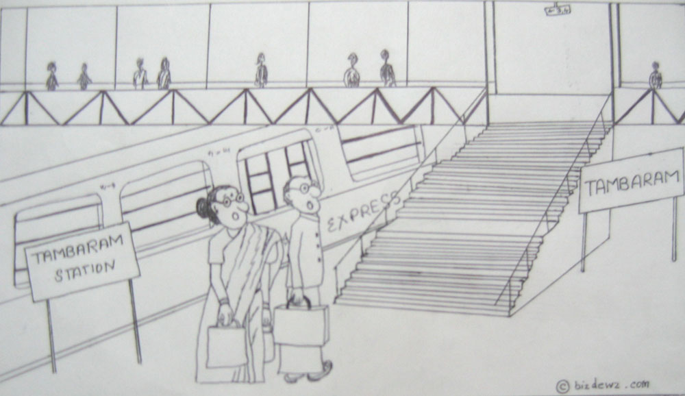 indian railway cartoon