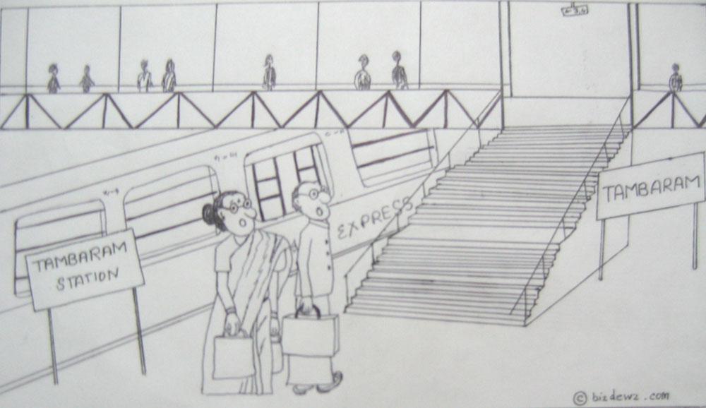 indian railway cartoon