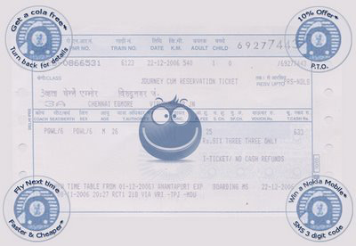 train ticket ad